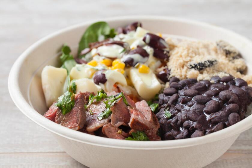 Brazilian Bowls' Grass-Fed Steak Bowl with Salad