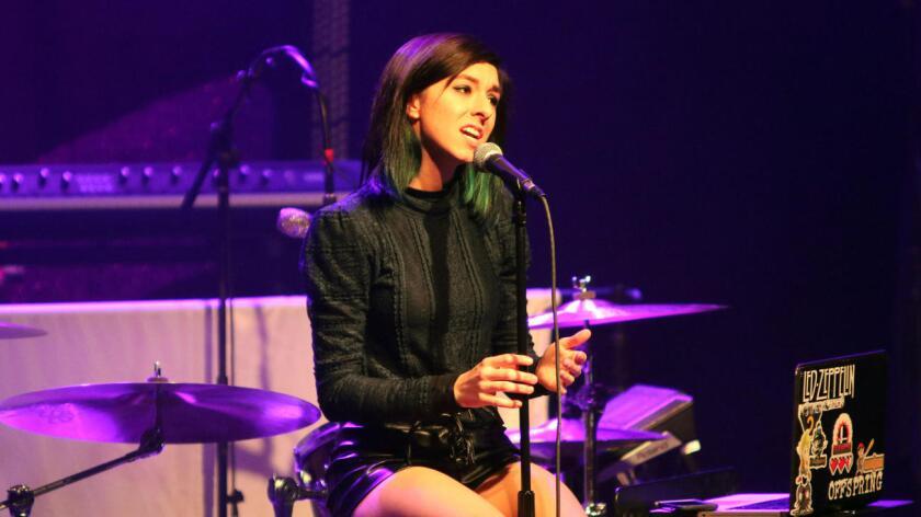 Christina Grimmie durante una presentación en Atlanta. Katie Darby / Katie Darby/Invision/AP