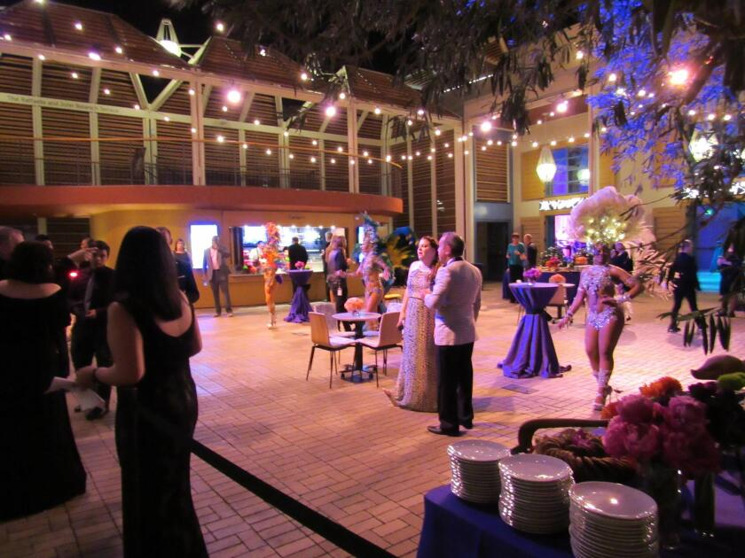 The dessert tables await concert-goers after the show.