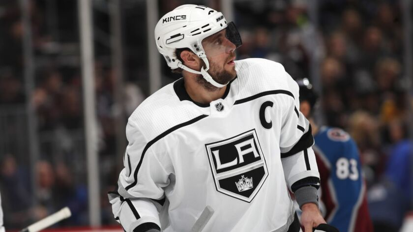 Kings center Anze Kopitar missed Saturday morning's skate and is a game-time decision for Saturday's game against the New York Islanders.