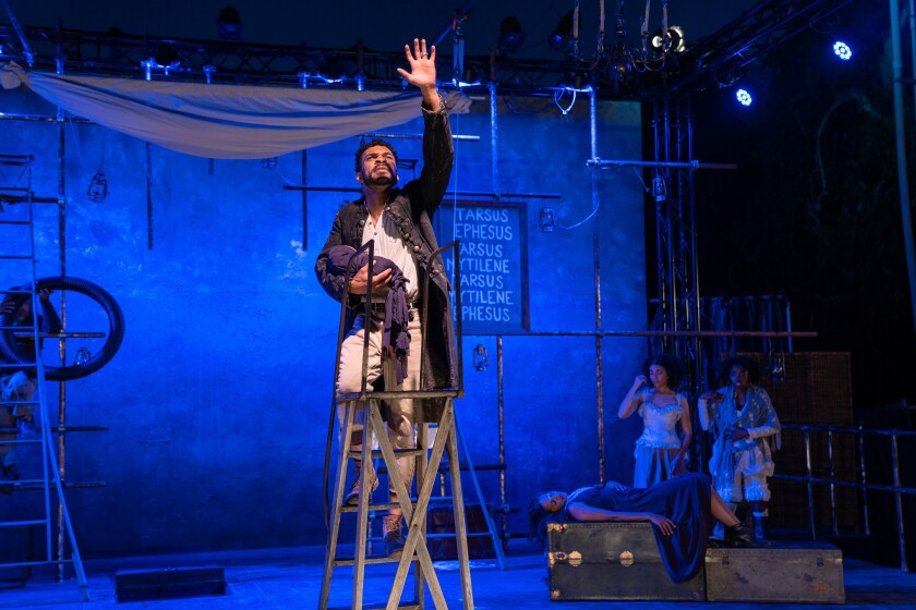 """Gyasi Silas in Independent Shakespeare Co.'s """"Pericles"""""""