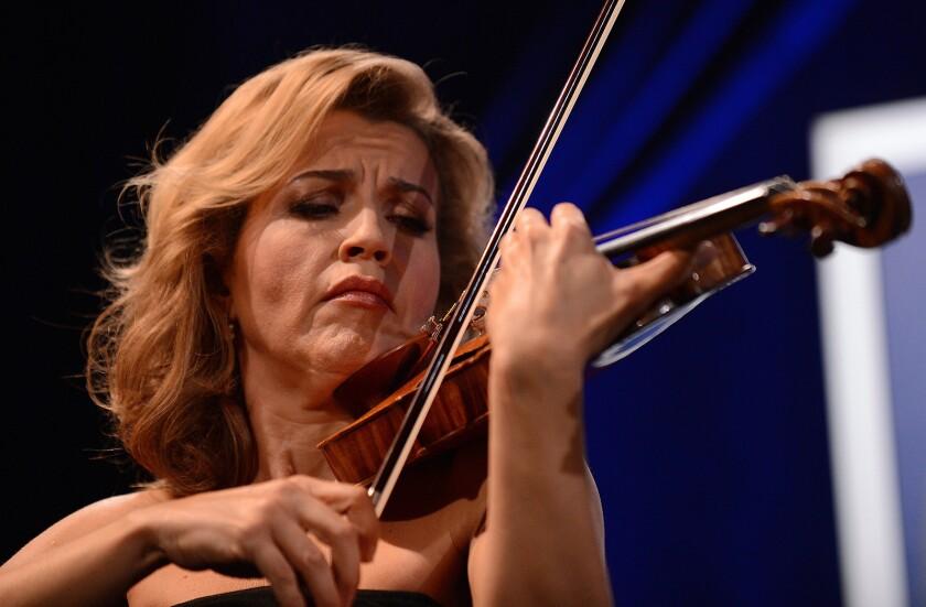 German violinist Anne-Sophie Mutter play
