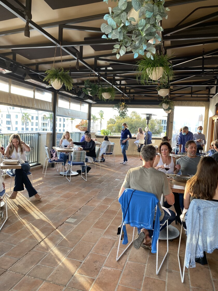 Catania restaurant in La Jolla held a mock reopening of socially distanced dine-in service May 29 and plans to officially reopen Wednesday, June 3.