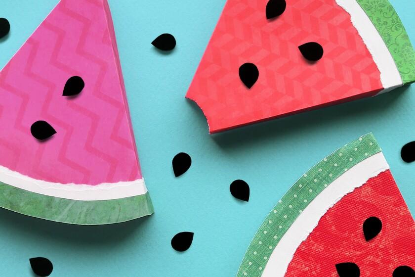 paper cutouts of watermelon slices