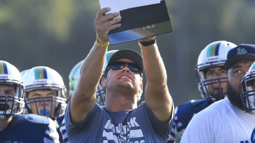 La Costa Canyon football coach Sean Sovacool designed some special tactics during the week for Oceanside.