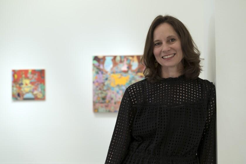 Artist Carolyn Case, artist in residence at Lux Art Institute