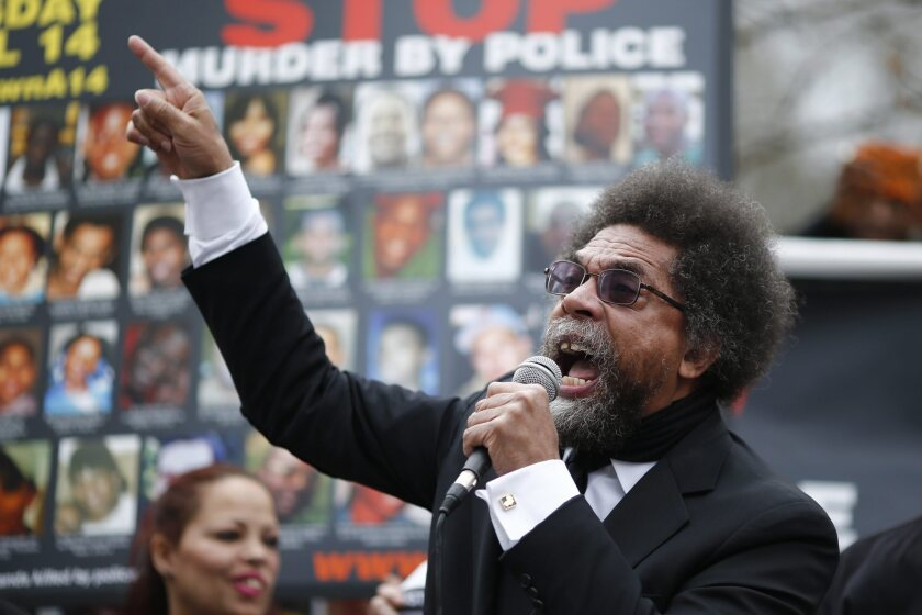 Cornel West has been an outspoken advocate for Bernie Sanders, especially in demand at college rallies.
