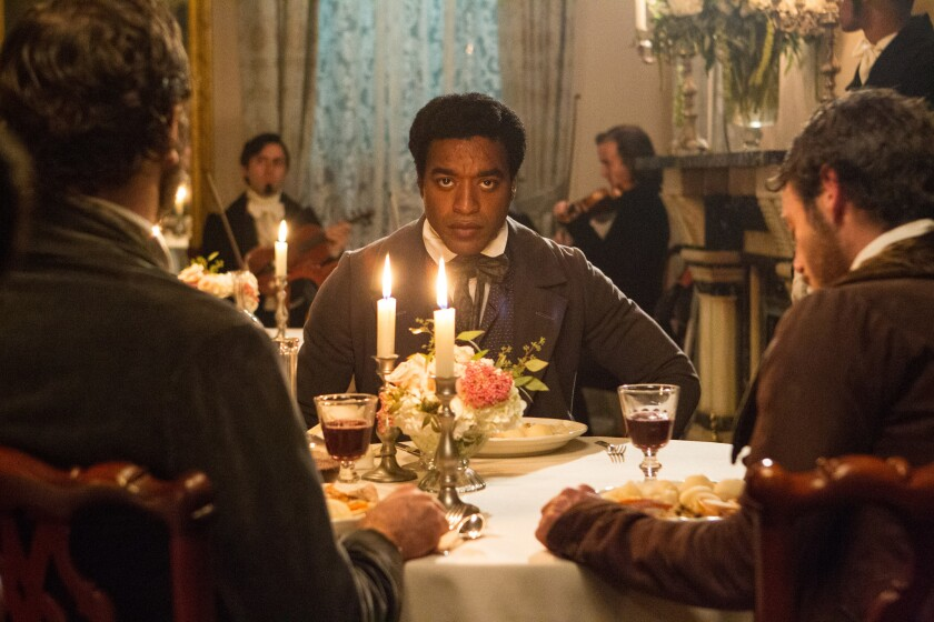 """Lead actor nominee Chiwetel Ejiofor in a scene from best picture nominee """"12 Years A Slave."""""""