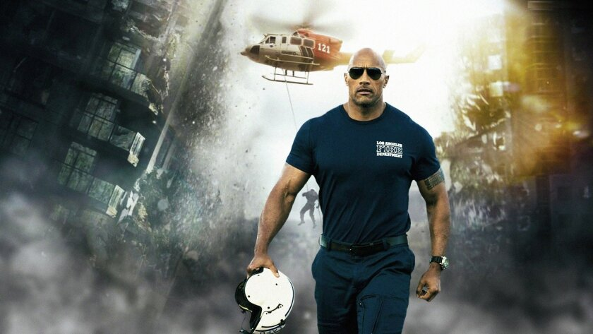 """Dwayne Johnson plays rescue-chopper pilot Ray in """"San Andreas"""""""