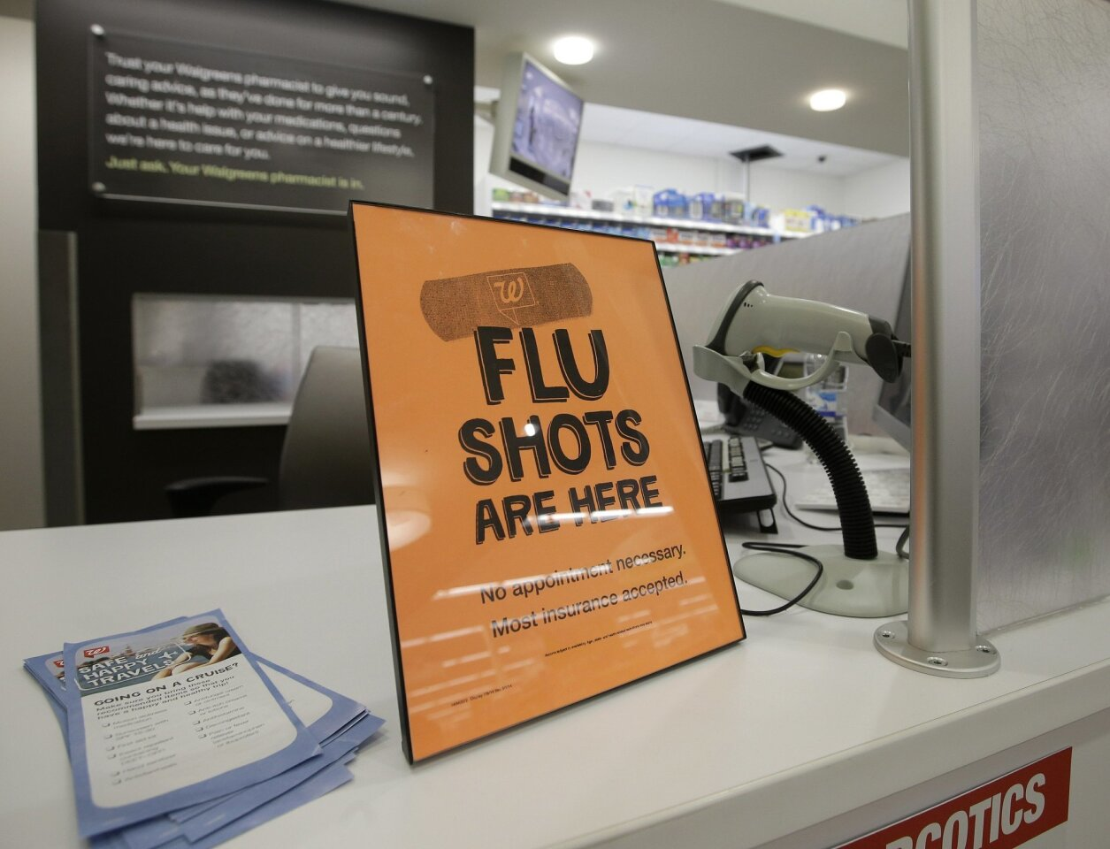 Flu cases in the county
