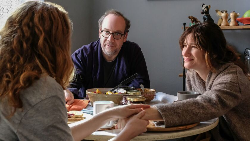 Kayli Carter, Paul Giamatti and Kathryn Hahn appear in <i>Private Life</i> by Tamara Jenkins, an off