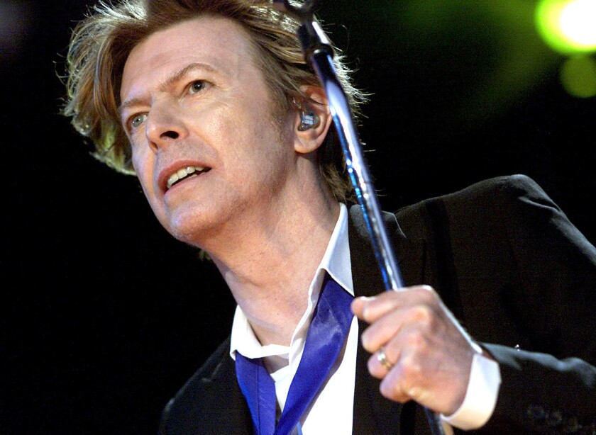 David Bowie, performing at the Area2 Festival in Irvine in 2002, earned four posthumous nominations for the 59th Grammy Awards.