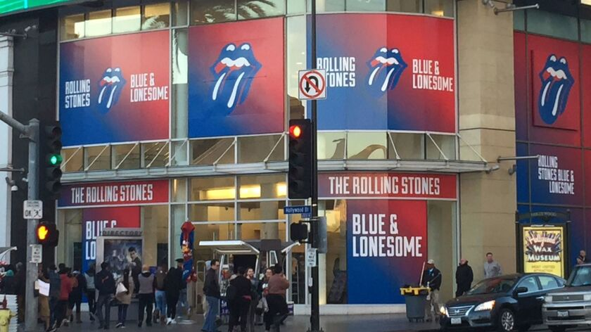 "The monthlong pop-up at the Hollywood & Highland shopping center opened Friday — the same day the Rolling Stones' album ""Blue & Lonesome"" was released. It will slowly add music and merchandise from other artists on the Interscope Records roster."