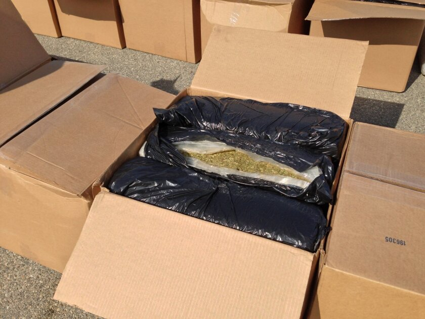 U.S. border Patrol agents seize more than 9 tons of marijuana the San Clemente checkpoint.