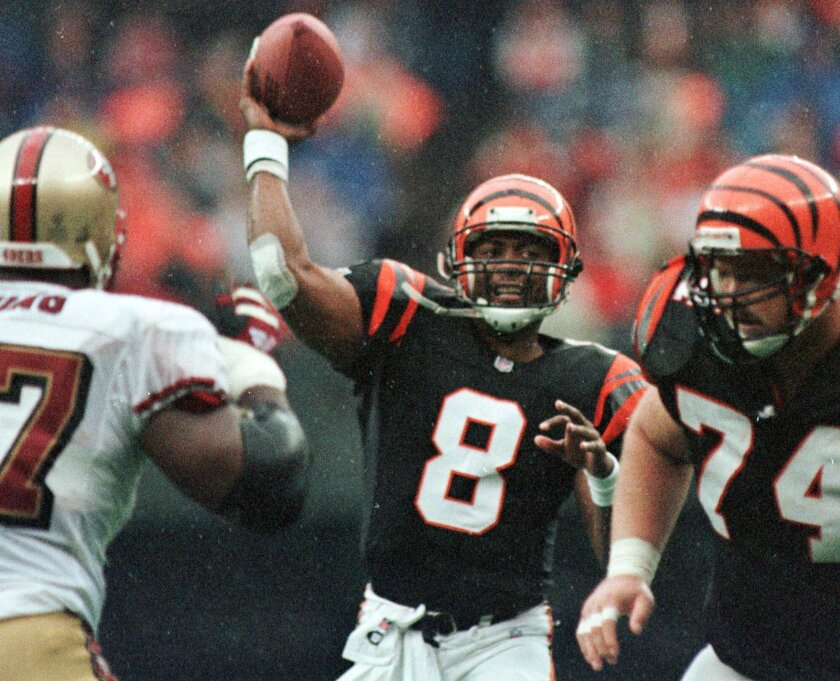 """Former Cincinnati Bengals quarterback Jeff Blake said Wednesday he used to regularly deflate footballs before games so he could """"feel"""" them better."""