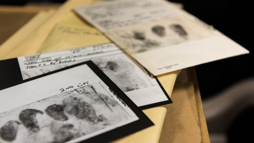 Among the evidence collected in the cold case are fingerprints lifted from crime scenes, shoe treads and DNA. Although there were no tests for DNA matching at the time of the crimes, investigators can now use that technology to rule out suspects.