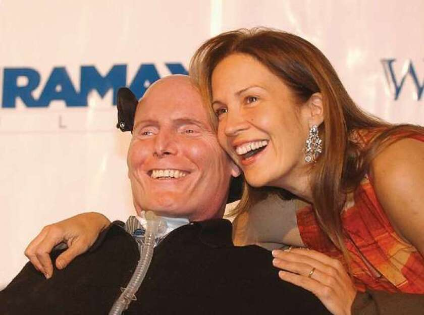 California's $3-billion stem cell program was sold to voters in 2004 with the promise that it would cure conditions such as the spinal cord injury suffered by the late Christopher Reeve, seen here with his wife, Dana. Voters may be asked next year to give it even more money.