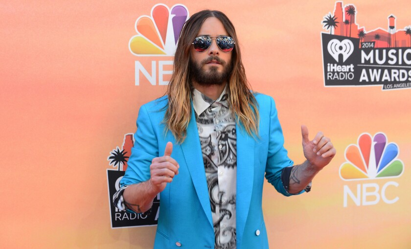 Jared Leto, pictured at the iHeartRadio Music Awards last month in Los Angeles, reportedly is in talks to star in the film adaptation of a Marcus Sakey sci-fi novel.