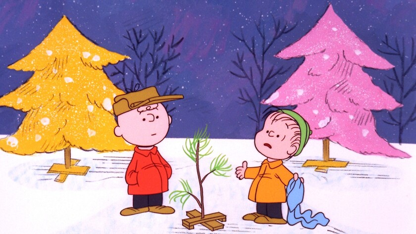 """The Peanuts gang celebrates the holiday in the animated classic """"A Charlie Brown Christmas"""" on ABC."""