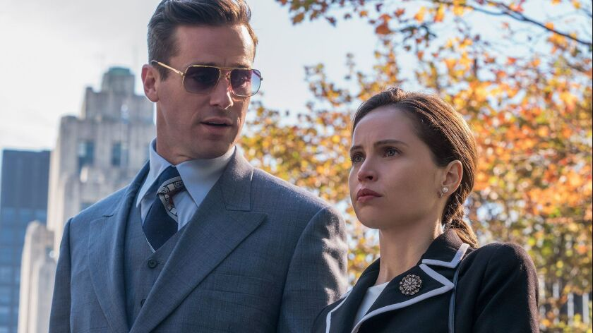 Review: Felicity Jones is Ruth Bader Ginsburg in the polished but unenlightening 'On the Basis of Sex'