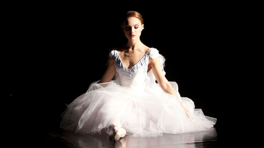 "Natalie Portman wears a ballet costume the Mulleavys designed in 2010's ""Black Swan."""
