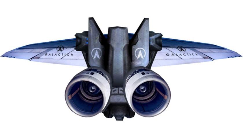 Galactica's jetpack flight vehicle