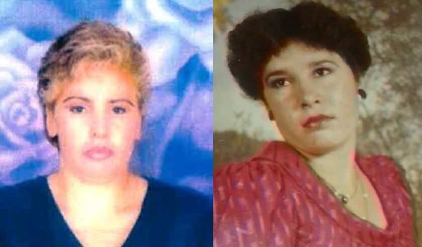 Teresa Gomez Madrigal, seen here in two photographs, was found dead in February 1999 near Lake Poway. A $50,000 reward has been offered for information in her cold-case homicide.