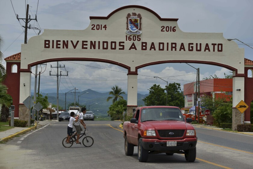 "Tucked into the foothills where the coastal stretches of flat corn and tomato fields meet the imposing mountains of the Sierra Madre, Badiraguato, the hometown of drug lord Joaquin ""El Chapo"" Guzman, remains mired in poverty."