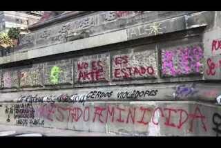 Vandalizan Ángel de la Independencia durante marcha de mujeres