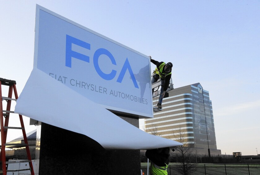 Fiat Chrysler announced its five-year plan at its headquarters in Auburn Hills, Mich. Its goal is to become a more nimble global automaker that can better compete with the likes of Toyota, Volkswagen and General Motors.