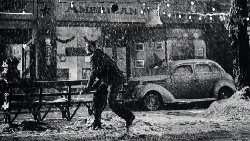 Jimmy Stewart searches for life's answers in Bedford Falls. So do we.