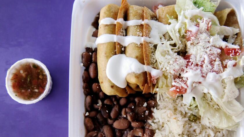 El Gran Burrito in Los Angeles serves chimichangas.