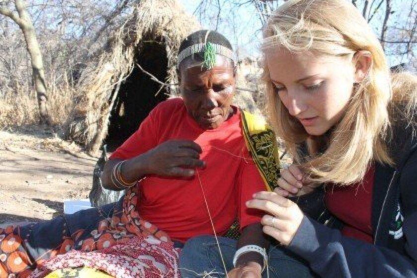 Natalie Brooks (right) in Tanzania. Courtesy photo