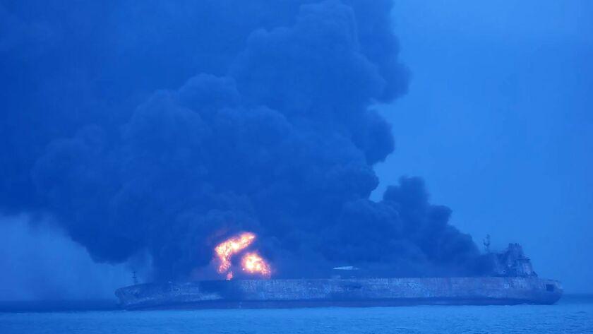 SKOREA-CHINA-IRAN-ACCIDENT-SHIP