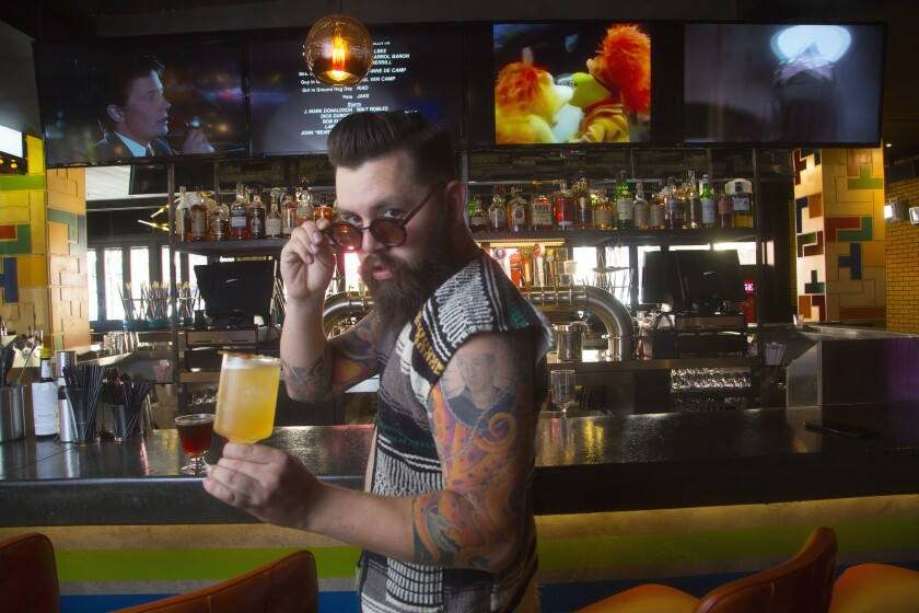 D.J. Mull mixes fun and education when crafting a cocktail that's just right.