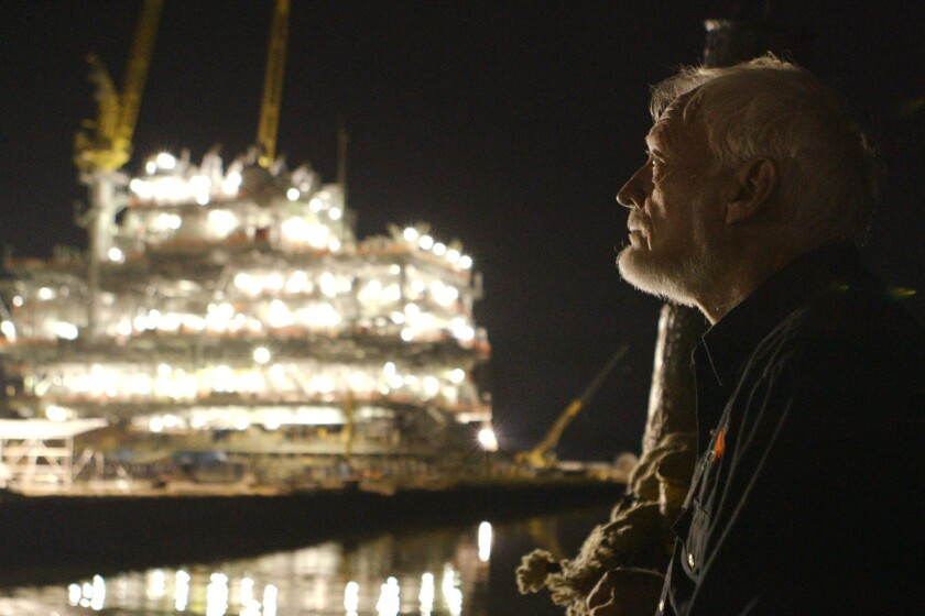 "Tugboat captain Lathan Smith in a scene from ""The Great Invisible."""