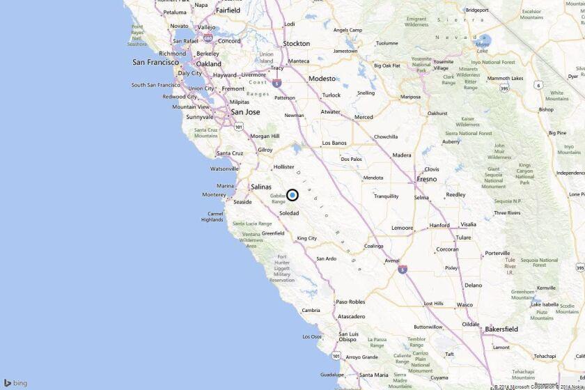 Earthquake: 3.0 quake strikes near Soledad, Calif.