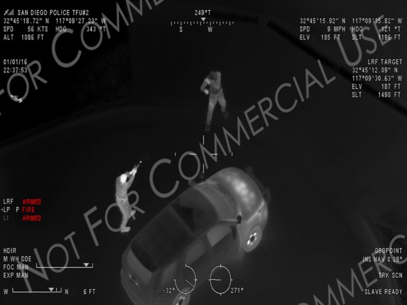 Screen shot of police video showing fatal shooting of Joshua Adam Sisson in Hillcrest on Jan. 1, 2016.