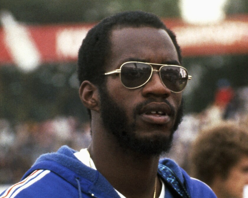 This 1979 file photo shows Edwin Moses, 400-meter gold Olympic medalist.