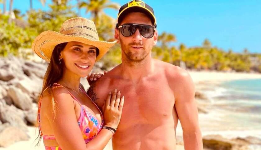 Leo Messi y Antonela vacacionan en Miami.