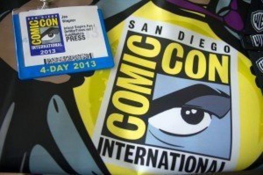 Comic-Con Press credential & bag