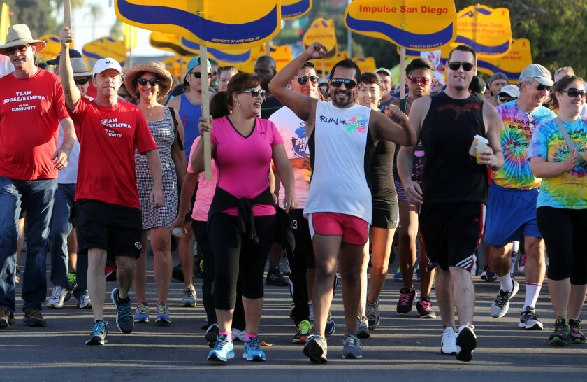 AIDS Walk & Run San Diego, which turns 30 this year, will be held Saturday starting at 7 a.m.