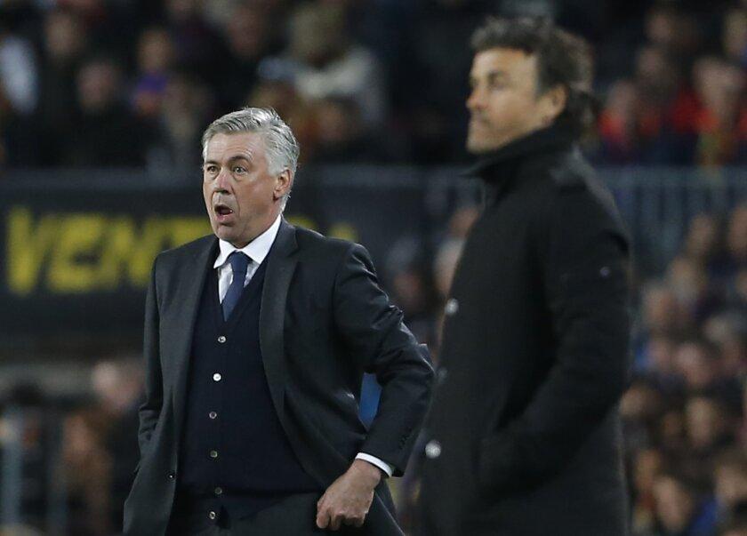 Carlo Ancelotti quiere arrebatar la cima a Luis Enrique.