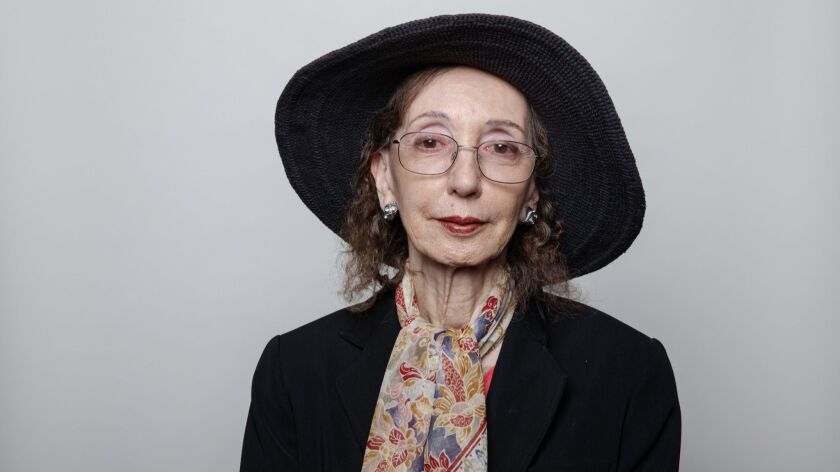 "LOS ANGELES,CA --SATURDAY, APRIL 21, 2018-- Joyce Carol Oates, author of, ""A Book of American Martyr"