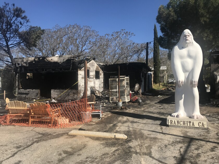 A fire caused $350,000 damage to a store and a real-estate office in Ranchita early Sunday.