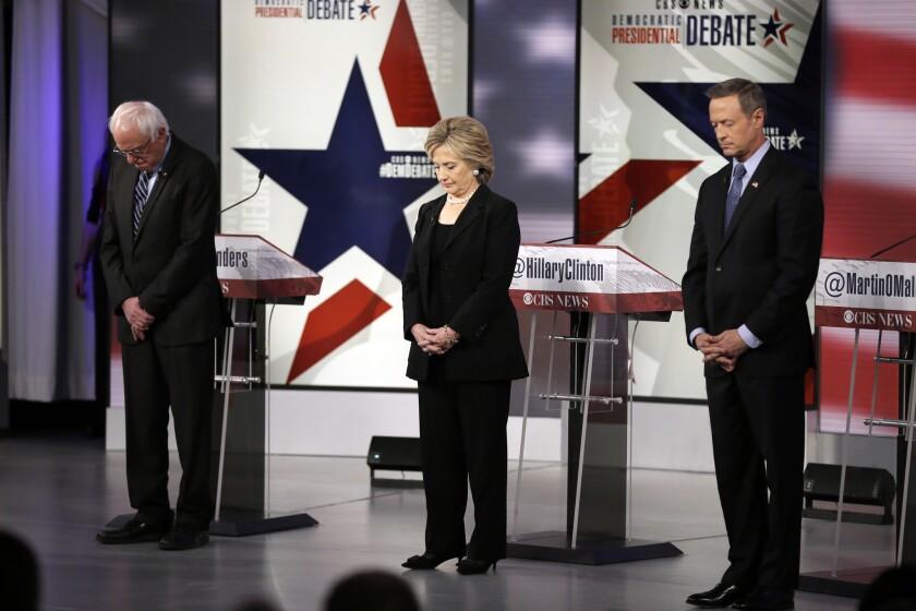 Bernie Sanders, Hillary Rodham Clinton, Martin O'Malley