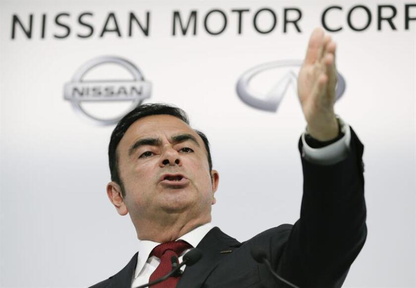 El presidente y consejero delegado de Nissan, Carlos Ghosn, anunció hoy durante el discurso inaugural del CES de Las Vegas (Nevada) las nuevas tecnologías y colaboraciones de la marca que impulsarán una movilidad de cero emisiones y cero accidentes en el futuro. EFE/ARCHIVO
