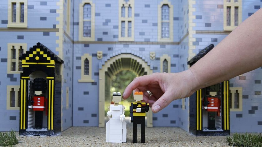 The newest attraction at Legoland in Windsor, England, Friday, May 11, 2018 shows a depiction of the