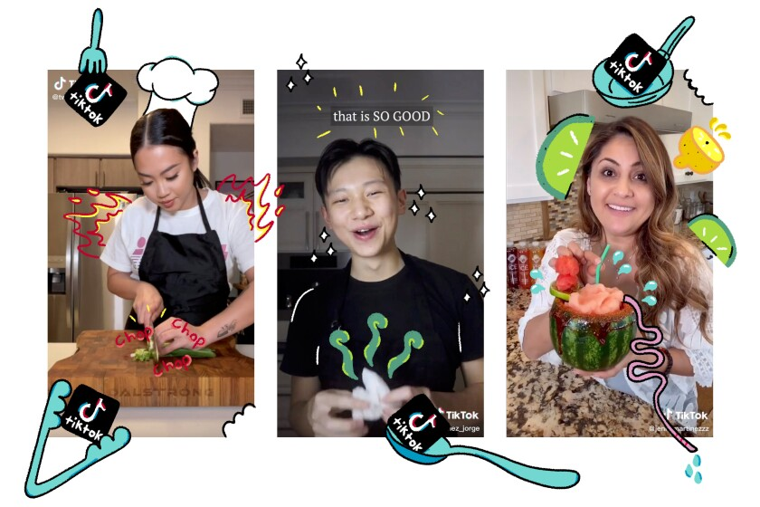 Tway Nguyen, George Lee and Jenny Martinez have amassed followings on TikTok with their cooking videos.