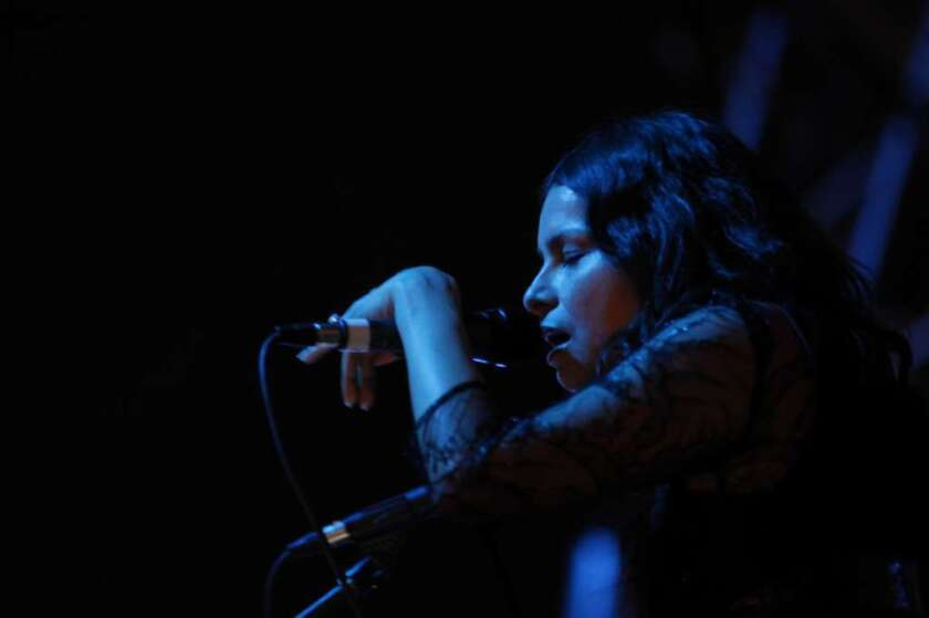 Hope Sandoval of Mazzy Star performs at the Coachella Valley Music and Arts Festival in 2012. Mazzy Star will have a new album out in September.